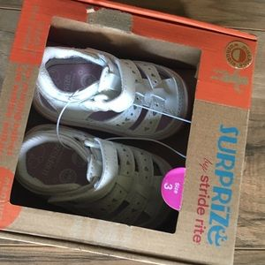 New girls Surprize Stride Rite white Didi sandals